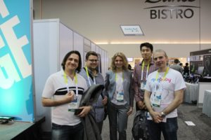 MonBaby team at CES in Eureka park